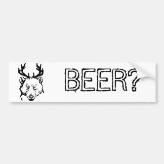 ¿Cerveza? Pegatina Para Auto