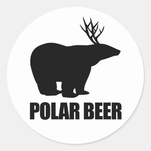 Cerveza polar pegatina redonda