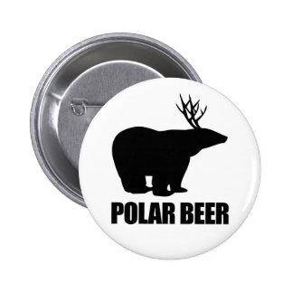 Cerveza polar pin redondo de 2 pulgadas