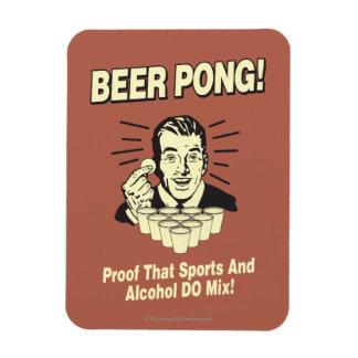 Cerveza Pong: Alcohol de la prueba y mezcla de los Imán