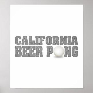 Cerveza Pong de California Impresiones