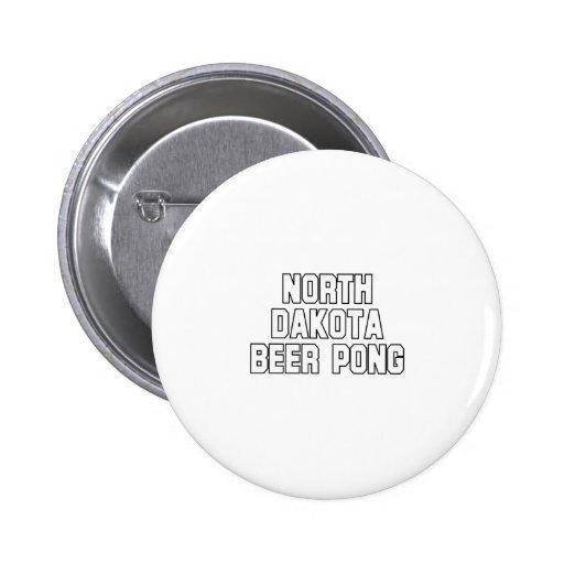 Cerveza Pong de Dakota del Norte Pins