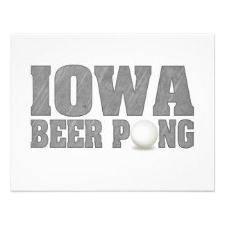 Cerveza Pong de Iowa Invitación Personalizada
