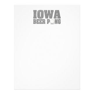 Cerveza Pong de Iowa Membretes Personalizados