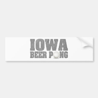Cerveza Pong de Iowa Pegatina Para Auto