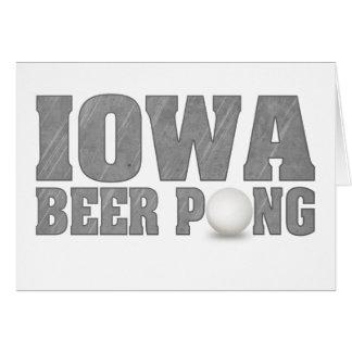 Cerveza Pong de Iowa Tarjetón