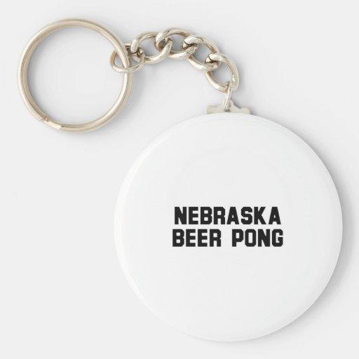 Cerveza Pong de Nebraska Llavero