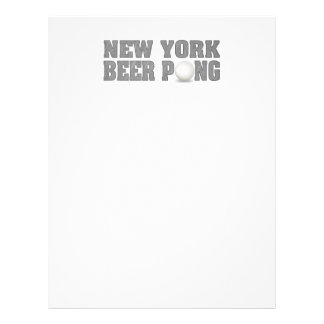 Cerveza Pong de Nueva York Membrete