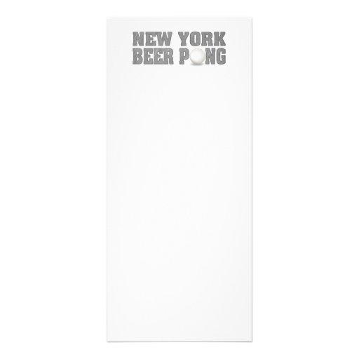 Cerveza Pong de Nueva York Plantilla De Lona