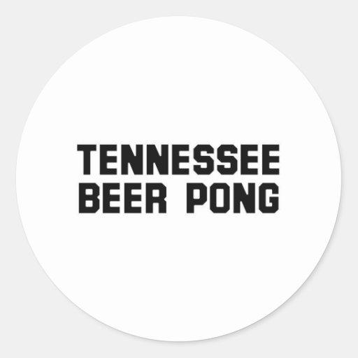 Cerveza Pong de Tennessee Pegatina Redonda