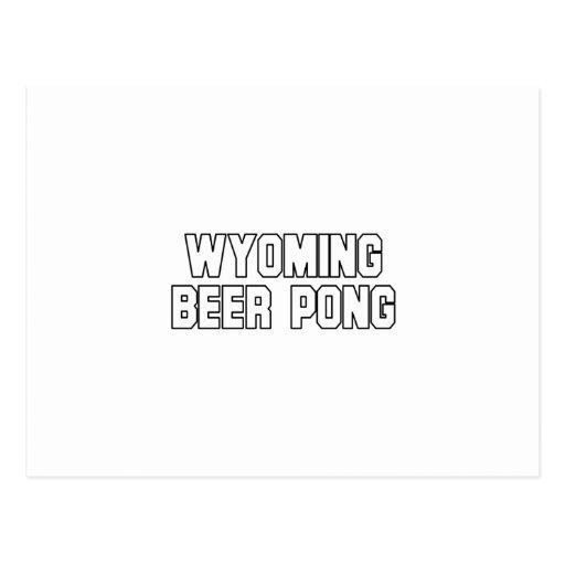 Cerveza Pong de Wyoming Postal