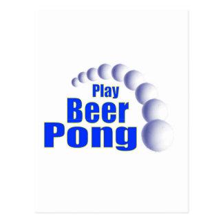 Cerveza Pong del juego Postal