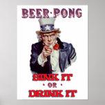 Cerveza Pong del tío Sam - húndala o bébala Impresiones
