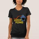 Cerveza-Pong (negro) Camisetas