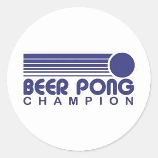 Cerveza Pong Pegatinas