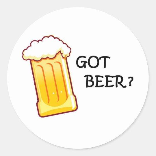 cerveza por completo pegatina redonda