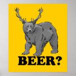 ¿Cerveza? Poster $24,95