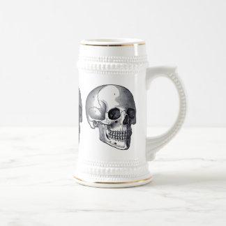 Cerveza punky gótica Stein de los cráneos del Jarra De Cerveza