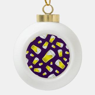 Cerveza púrpura adorno de cerámica en forma de bola