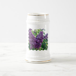 Cerveza púrpura Stein de las lilas Taza De Café