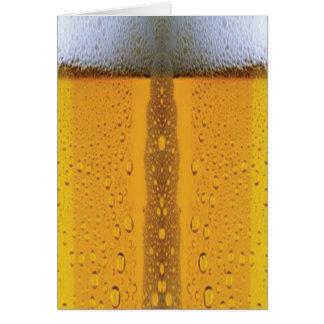 Cerveza que hace espuma de Oktoberfest Tarjeta De Felicitación