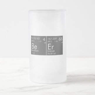 Cerveza química taza de cristal