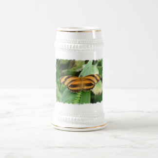 Cerveza rayada Stein de Butterly Tazas De Café