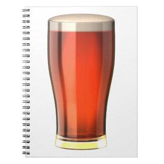 Cerveza real de la cerveza inglesa spiral notebooks
