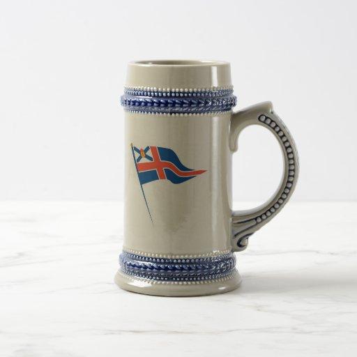 Cerveza real Stein (burgee) de Nueva Escocia YS Jarra De Cerveza