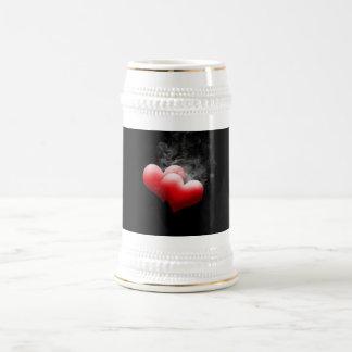 Cerveza roja Stein de los corazones de Smokey Jarra De Cerveza