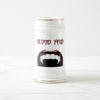 Cerveza Stein 02 de la pelea de sangre Jarra De Cerveza