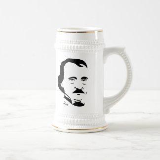 Cerveza Stein de Edgar Allan Poe Taza