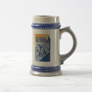 Cerveza Stein de la buena suerte de Franken Tazas De Café