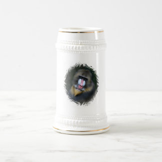 Cerveza Stein de la cara del babuino Tazas De Café