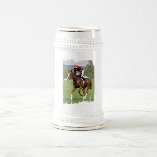 Cerveza Stein de la carrera de caballos del césped Jarra De Cerveza