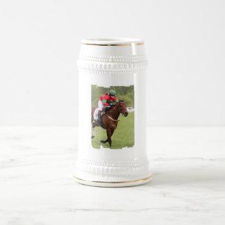 Cerveza Stein de la carrera de caballos Jarra De Cerveza