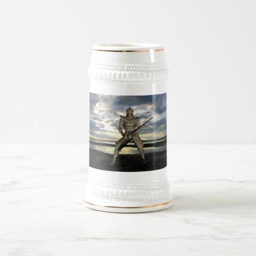 Cerveza Stein de la conquista del guerrero Tazas