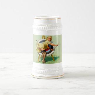 Cerveza Stein de la diana del vintage Taza De Café
