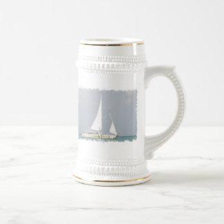 Cerveza Stein de la embarcación de recreo Tazas De Café