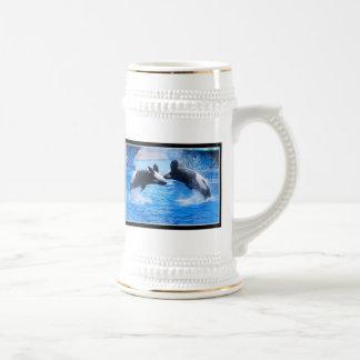 Cerveza Stein de la foto de la ballena Tazas De Café