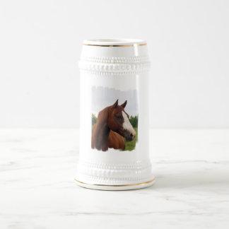 Cerveza Stein de la foto del caballo de proyecto Tazas