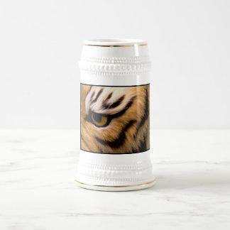 Cerveza Stein de la foto del tigre Taza