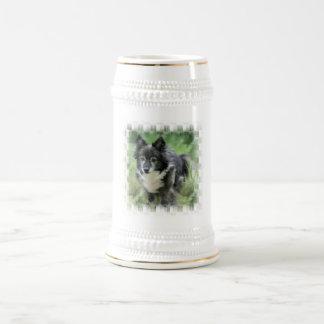 Cerveza Stein de la imagen del perro de Sheltie Taza De Café