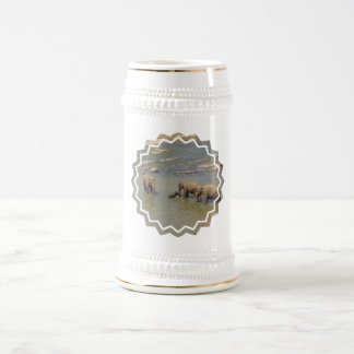 Cerveza Stein de la manada del elefante Jarra De Cerveza