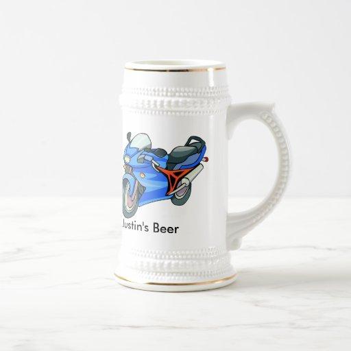 Cerveza Stein de la motocicleta Tazas De Café