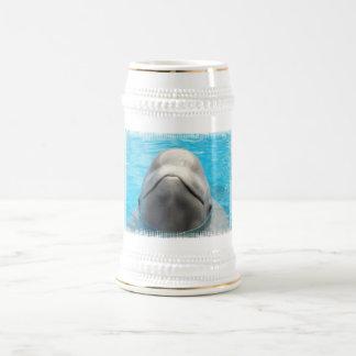 Cerveza Stein de la mueca de la ballena de la belu Jarra De Cerveza