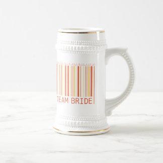 Cerveza Stein de la novia del equipo Tazas