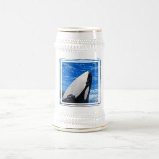 Cerveza Stein de la orca Tazas