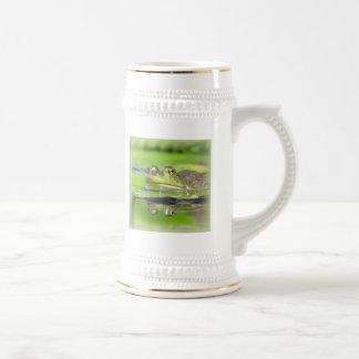 Cerveza Stein de la rana verde Tazas De Café