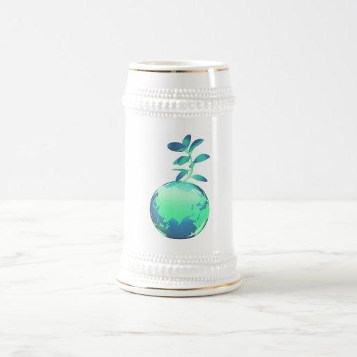 Cerveza Stein de la vida vegetal Taza